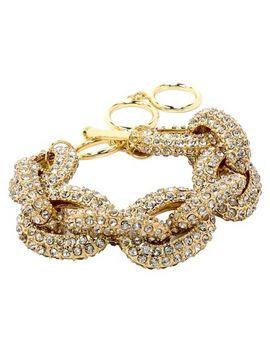pave-stone-link-bracelet---gold by target