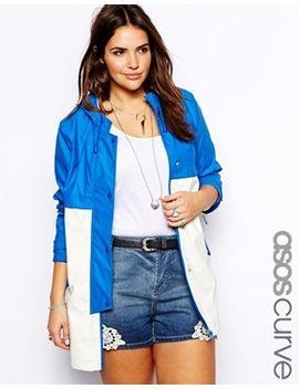 asos-curve-rain-trench-in-color-block by asos-curve