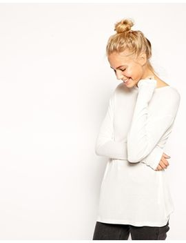 asos-tunic-top-with-long-sleeves-in-slouchy-rib by asos-collection