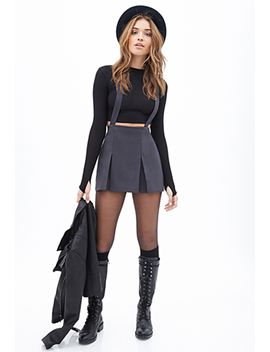 pleated-overall-skirt by forever-21