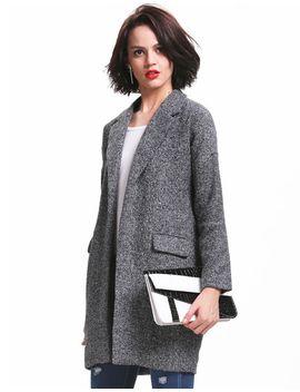 grey-long-sleeve-notch-lapel-pockets-coat by sheinside