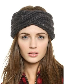 black-metallic-yoke-knit-hat by sheinside