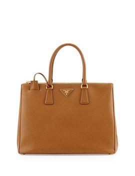 saffiano-medium-executive-tote-bag,-brown-(caramel) by prada