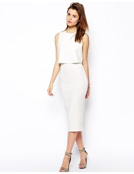 asos-double-layer-crop-top-midi by asos-collection