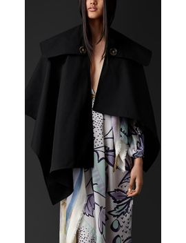 gabardine-trench-poncho by burberry