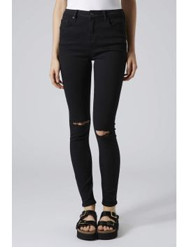 moto-black-ripped-jamie-jeans by topshop