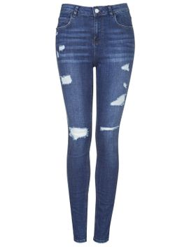 moto-authentic-ripped-skinny-jeans by topshop