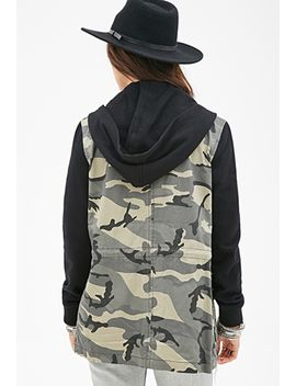 camo-utility-jacket by forever-21