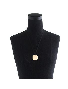 metal-shield-necklace by jcrew