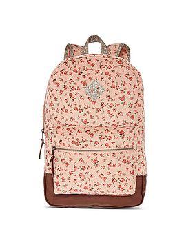olsenboye®-floral-ditsy-print-corduroy-dome-backpack by olsenboye