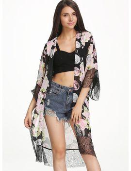 black-batwing-sleeve-floral-print-kimono by sheinside
