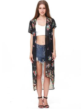 black-half-sleeve-floral-sheer-chiffon-kimono by sheinside