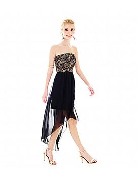 my-michelle®-strapless-lace-high-low-dress by my-michelle