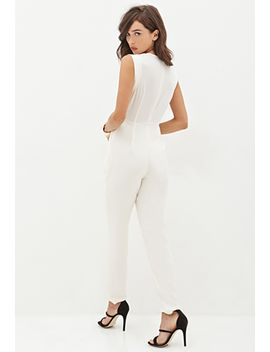 sleeveless-surplice-jumpsuit by forever-21