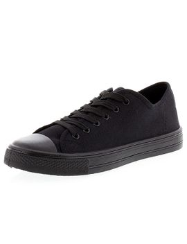 neat-lace-up-canvas-shoes---black by target