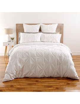 kissing-pleat-quilt-cover-set---white by target