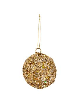 timeless-wire-mesh-glitter-ball-ornament---gold by target