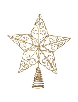 gold-star-tree-topper-30cm by target