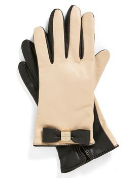 logo-bow-leather-gloves by kate-spade-new-york