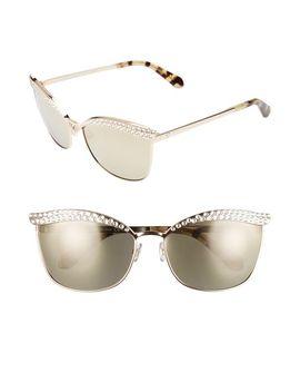 leandra-62mm-cat-eye-aviator-sunglasses by kate-spade-new-york
