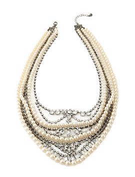 faux-pearl-&-rhinestone-necklace by forever-21