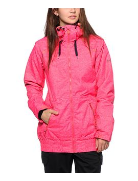 roxy-valley-hoodie-pink-10k-snowboard-jacket by roxy