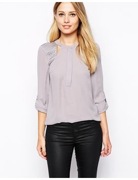 warehouse-crochet-insert-blouse by warehouse