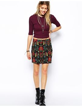 glamorous-a-line-skirt-in-folk-embroidered-pattern by glamorous