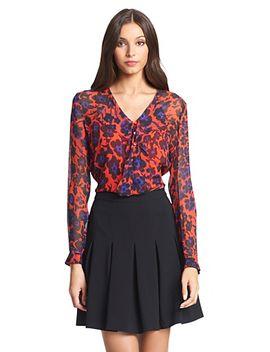 dvf-reese-silk-chiffon-ruffle-blouse by dvf