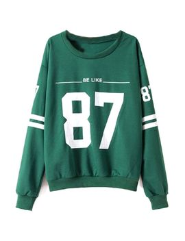 green-baseball-sweatshirt by oasap