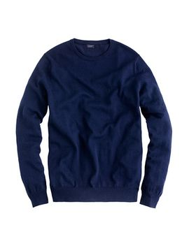 slim-cotton-cashmere-crewneck-sweater by jcrew