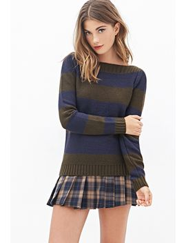 striped-boat-neck-sweater by forever-21