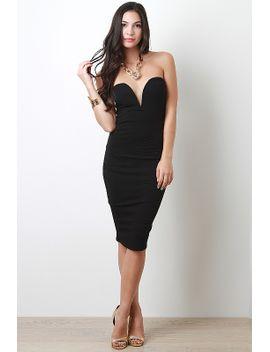 textured-strapless-dress by urbanog