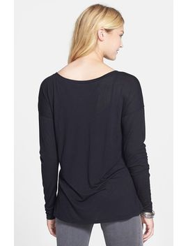 dolman-sleeve-v-neck-tee by frenchi®