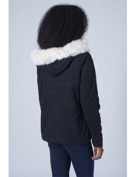 petite-faux-fur-trim-borg-lined-parka-jacket by topshop