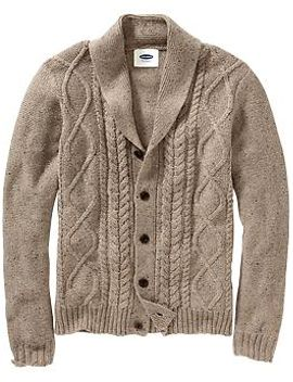 mens-wool-blend-cable-knit-cardis by old-navy