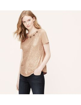 jeweled-sequin-tee by loft