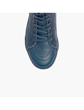 vans®-sk8-hi-zip-tonal-high-top-sneakers-in-leather by madewell