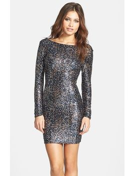 lola-foiled-sequin-body-con-dress by dress-the-population