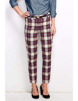 womens-fit-2-twill-tartan-slim-leg-pants by lands-end