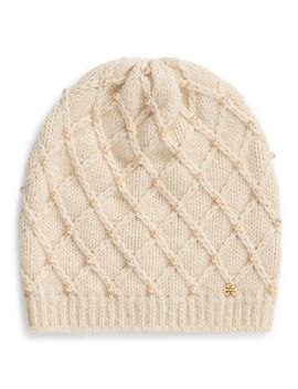 pearl-cable-hat by tory-burch