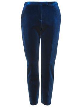 premium-bonded-velvet-trousers by topshop