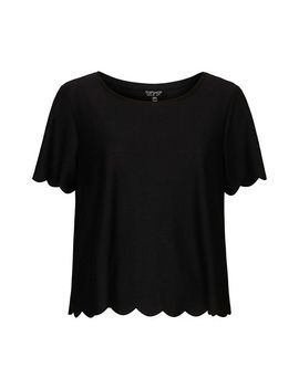 scallop-frill-tee by topshop