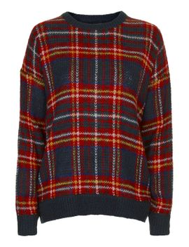 highland-check-jumper by topshop