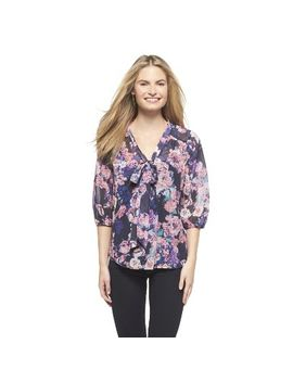 target-:-expect-more-pay-less by -elbow-sleeve-floral-blouse---xhilaration®