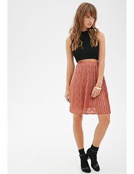 accordion-pleated-lace-skirt by forever-21