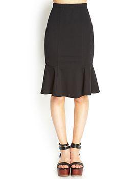 flared-knee-length-skirt by forever-21