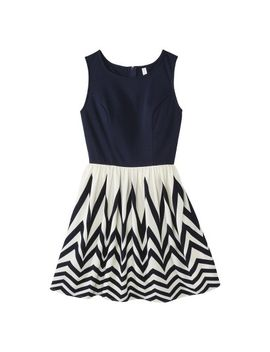 target-:-expect-more-pay-less by -knit-to-woven-dress-navy---xhilaration®