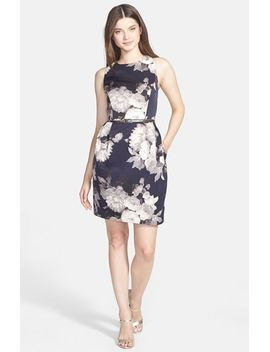 floral-print-tulip-skirt-sheath-dress by eliza-j
