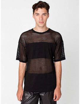 waffle-mesh-combo-shirt by american-apparel